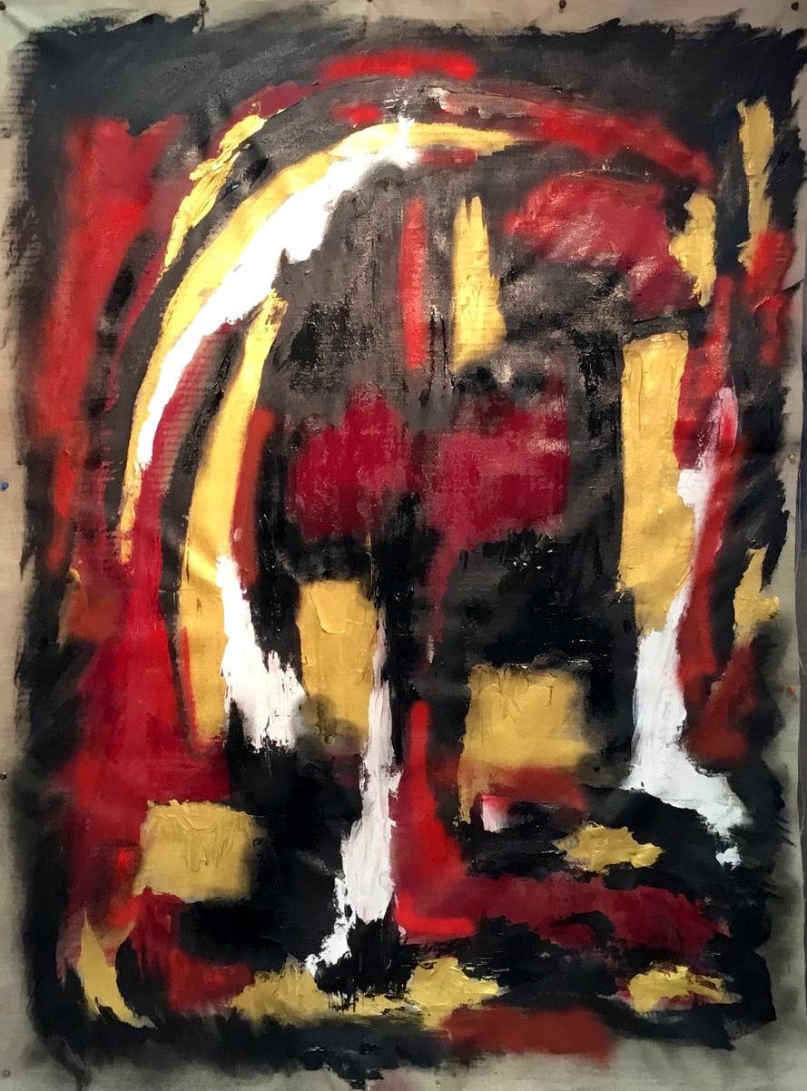 Acrylique  huile 198 x 119 - 2018