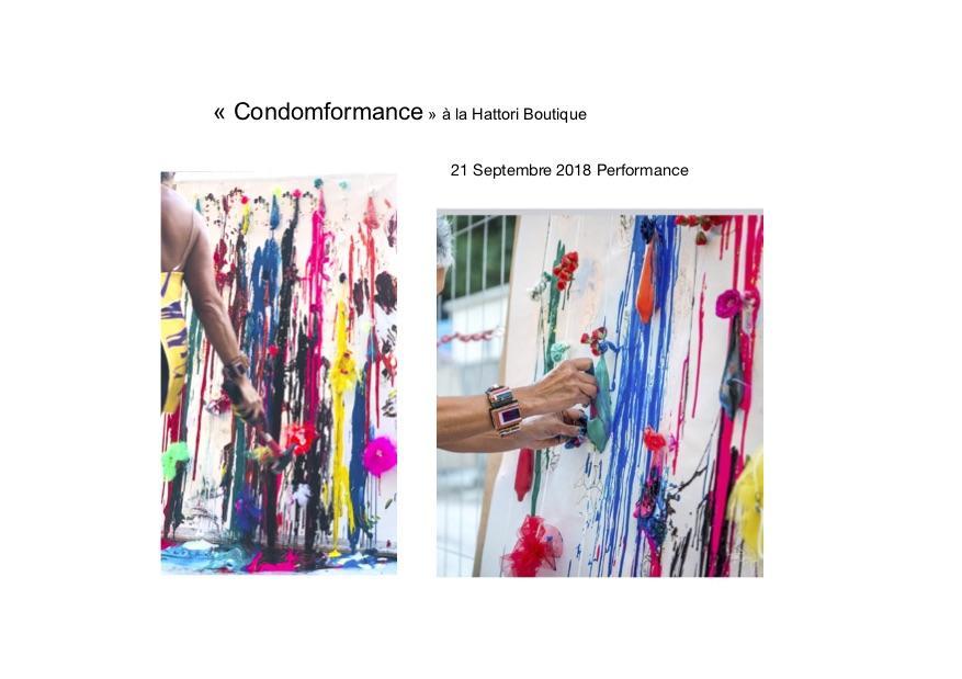 Silva Usta - Condomformance - - Exposition et performance - Hattori Boutique