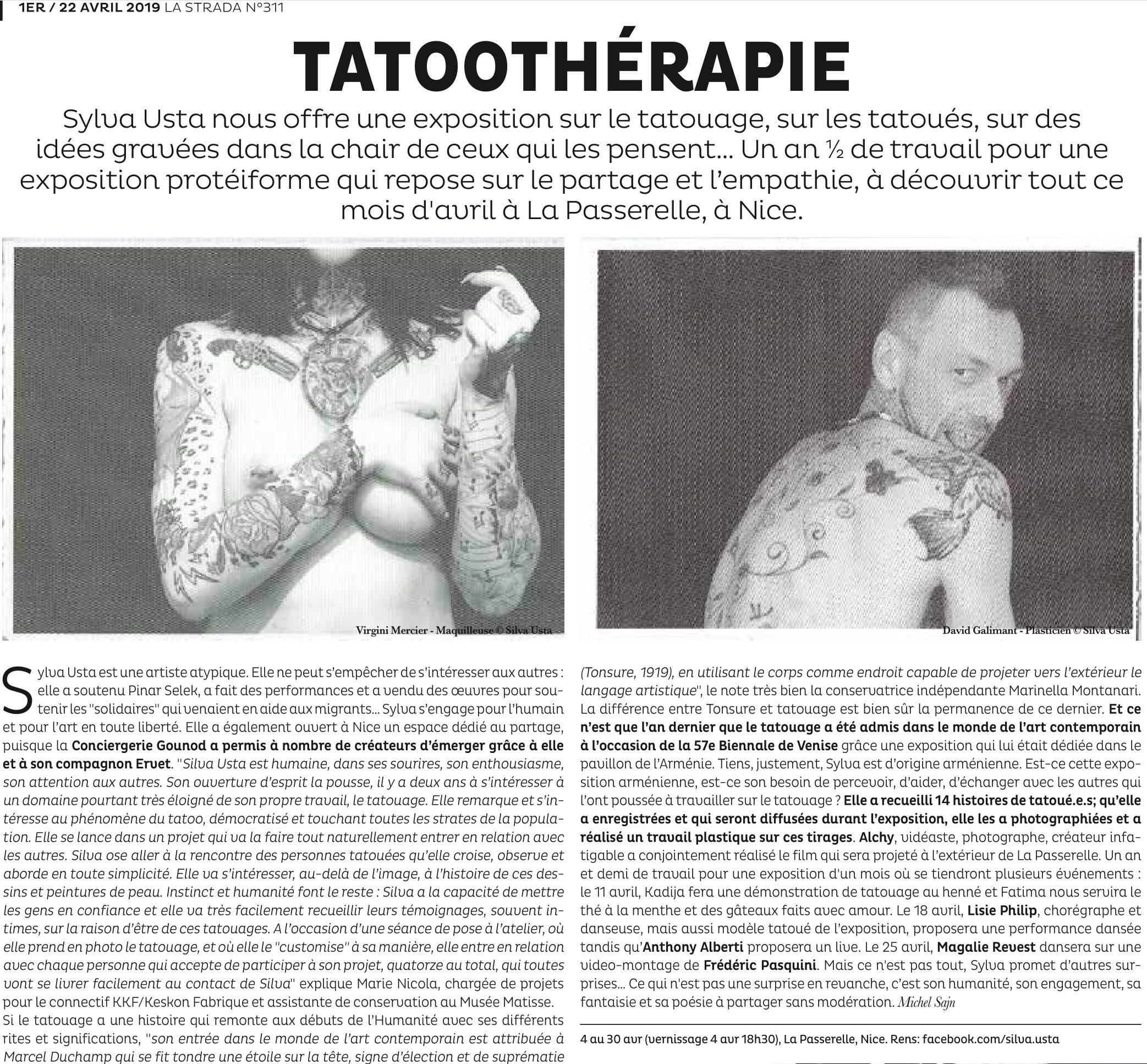 Tatoothérapie - La Strada