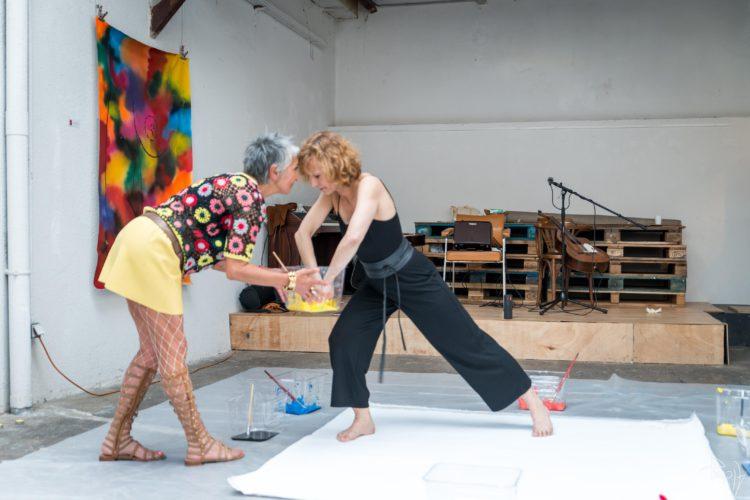 Extase Colorée - La Menuiserie - Performance de Silva Usta et Isabelle Blondeau (44)