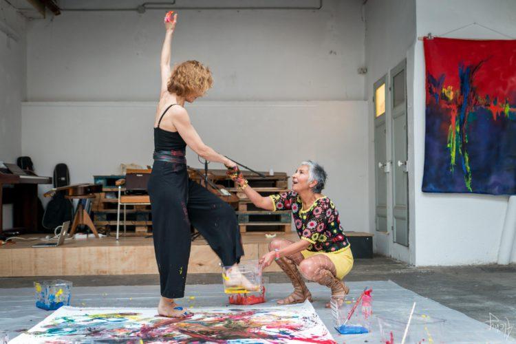 Extase Colorée - La Menuiserie - Performance de Silva Usta et Isabelle Blondeau (53)