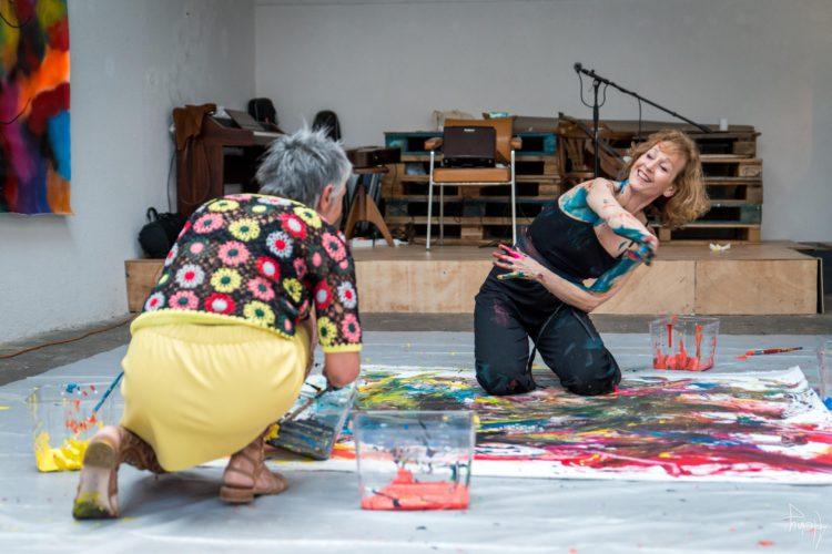 Extase Colorée - La Menuiserie - Performance de Silva Usta et Isabelle Blondeau (57)
