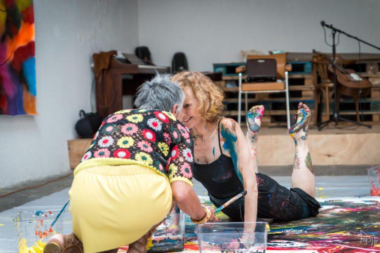 Extase Colorée - La Menuiserie - Performance de Silva Usta et Isabelle Blondeau (58)