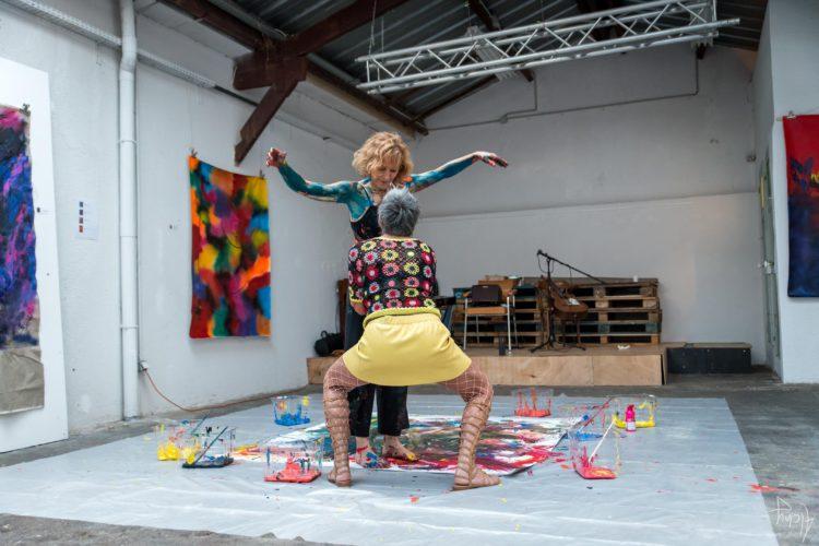 Extase Colorée - La Menuiserie - Performance de Silva Usta et Isabelle Blondeau (59)
