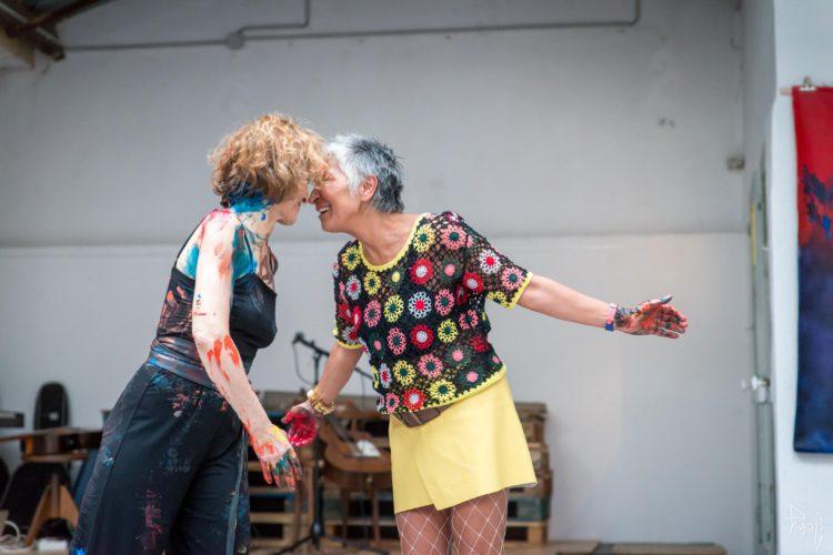 Extase Colorée - La Menuiserie - Performance de Silva Usta et Isabelle Blondeau (63)