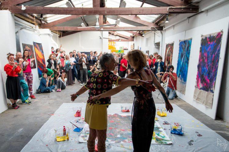 Extase Colorée - La Menuiserie - Performance de Silva Usta et Isabelle Blondeau (64)