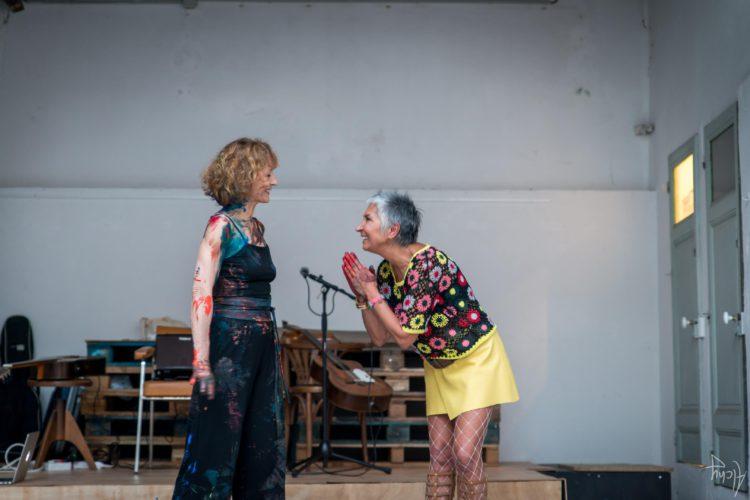Extase Colorée - La Menuiserie - Performance de Silva Usta et Isabelle Blondeau (69)